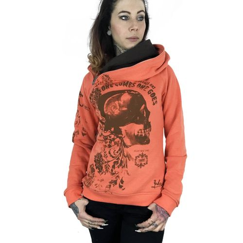 "YAKUZA - Damen Hoodie GHOB 9133 ""One Comes"" fresh salmon (orange)"