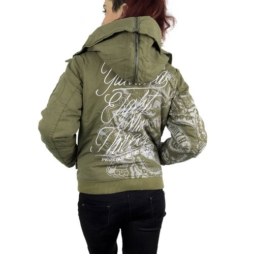 "YAKUZA - Damen Winterjacke GJB 9141 ""Inked In Blood"" dusky green (olivgrün)"