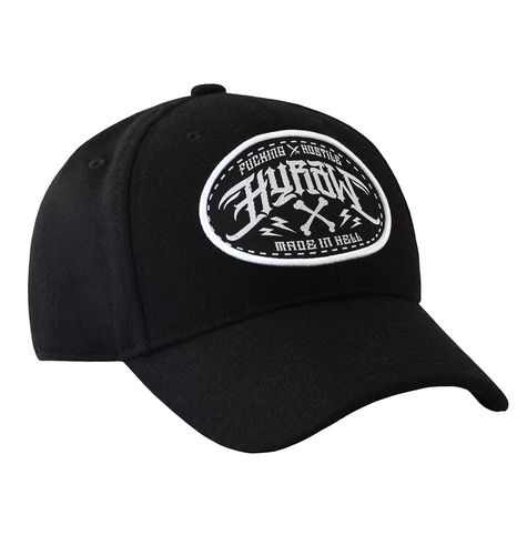 "HYRAW - Snap Back Trucker Wool Cap ""Made In Hell"" black (schwarz)"