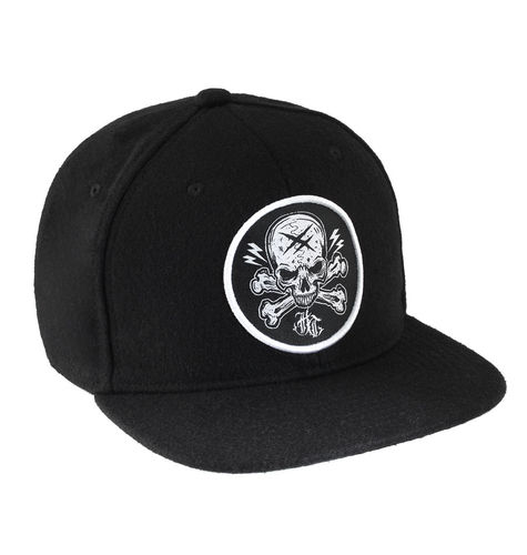 "HYRAW - Snap Back Wool Cap ""Badge"" black (schwarz)"