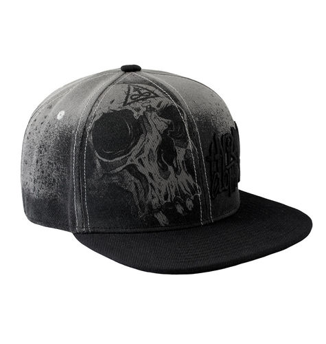 "HYRAW - Snap Back Cap ""Misery"" grey (schwarz / grau)"