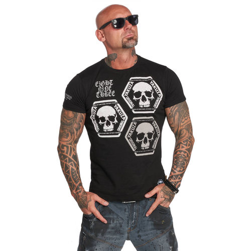 "YAKUZA - Herren T-Shirt TSB 12022 ""Skull Collection"" black (schwarz)"