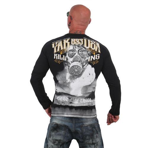 YAKUZA Fallout Longsleeve Shirt LSB-12032 Ebony Moon Grau T-Shirts