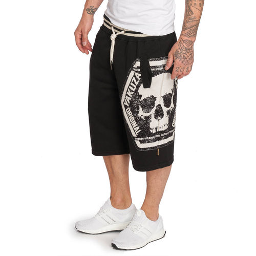 "YAKUZA - Sweat Shorts SSB 12046 ""Skull Label"" black (schwarz)"