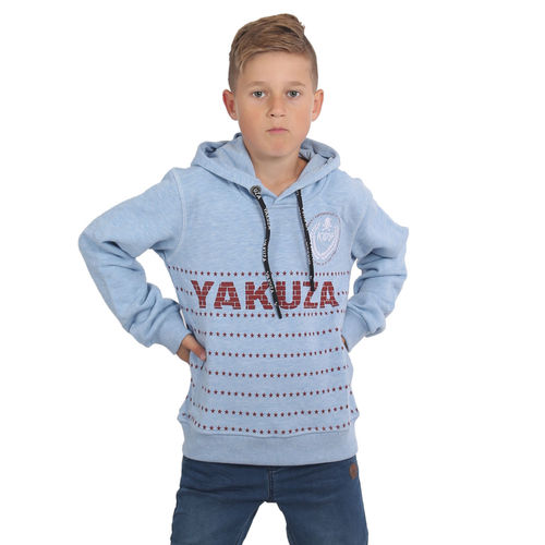 "YAKUZA - Kinder Hoodie HOB 15401 Kids ""War Is Sweet"" turquoise melange (blau)"