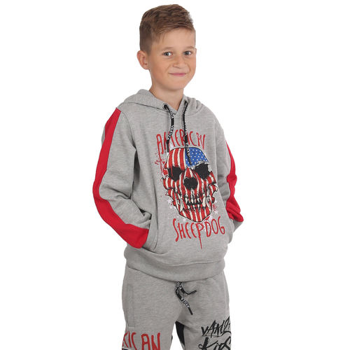 "YAKUZA - Kinder Hoodie HOB 15402 Kids ""Sheepdog"" light grey melange (grau)"
