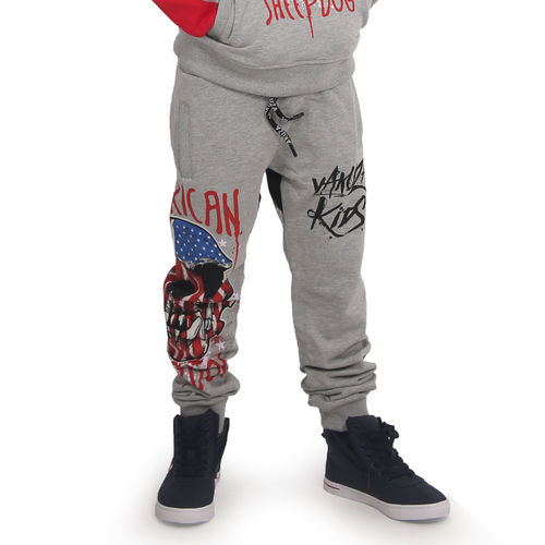 "YAKUZA - Kinder Jogginghose JOB 15404 Kids ""Sheepdog"" light grey melange (grau)"