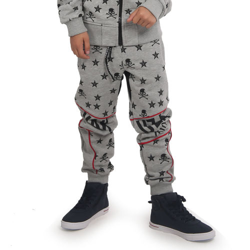 "YAKUZA - Kinder Jogginghose JOB 15405 Kids ""Skull N Stars"" light grey (grau)"