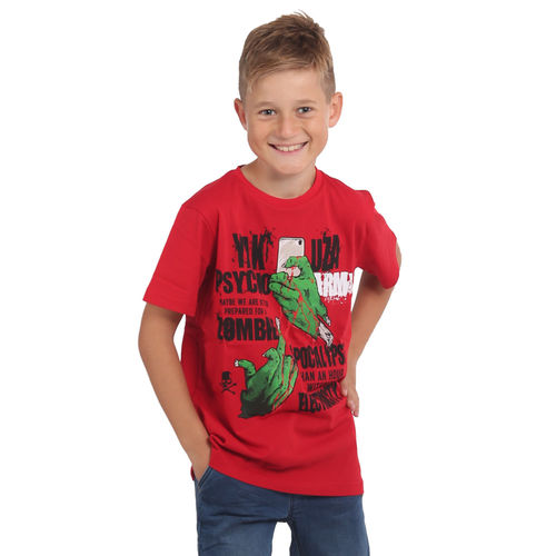 "YAKUZA - Kinder T-Shirt TSB 15406 Kids ""Zombie"" ribbon red (rot)"