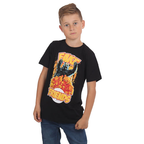 "YAKUZA - Kinder T-Shirt TSB 15407 Kids ""Fake Friends"" black (schwarz)"