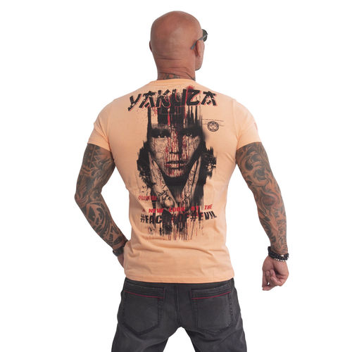 "YAKUZA - Herren T-Shirt TSB 610 ""Face Of Evil"" papaya punch (orange)"
