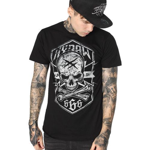 "HYRAW - Herren T-Shirt ""Badge"" black (schwarz)"
