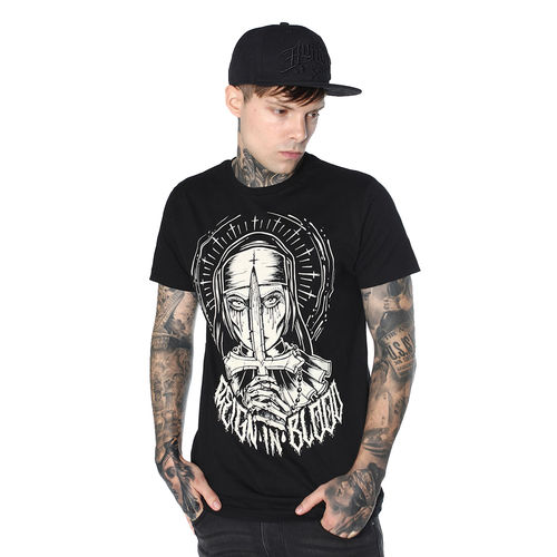 "HYRAW - Herren T-Shirt ""Crucifix"" black (schwarz)"
