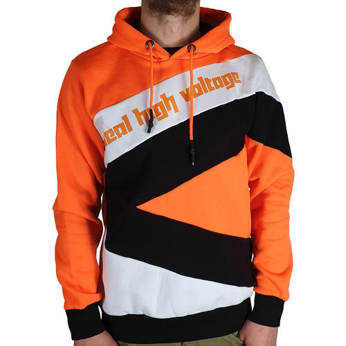 "RUSTY NEAL - Herren Hoodie R-4727 ""High Voltage"" orange/schwarz/weiß"