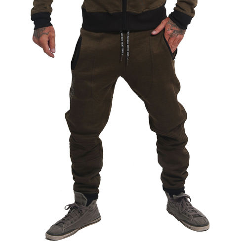 "YAKUZA - Sports Line Herren Jogginghose JOB 14502 ""S&F"" dark olive (oliv)"