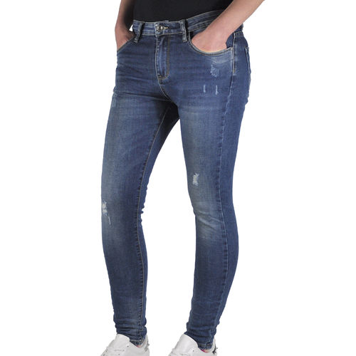 JEWELLY - Damen Skinny Jeans JW5078 blue (blau)
