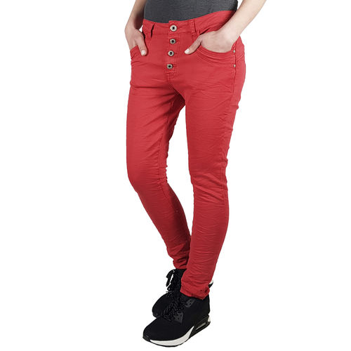 JEWELLY - Damen Baggy Style Jeans JW5154-19 red (rot)