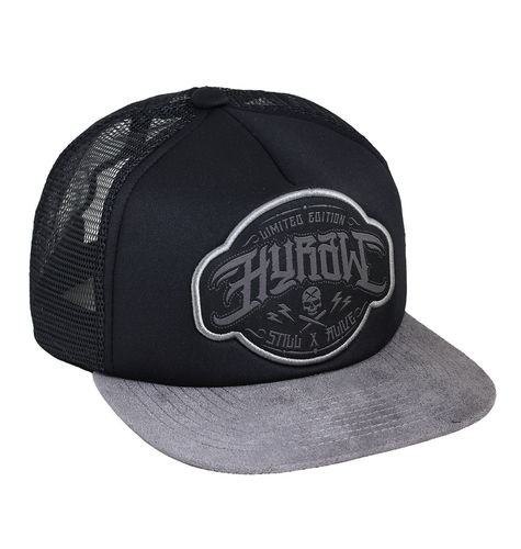 "HYRAW - Snap Back Trucker Cap ""Crime"" black/grey (schwarz/grau)"