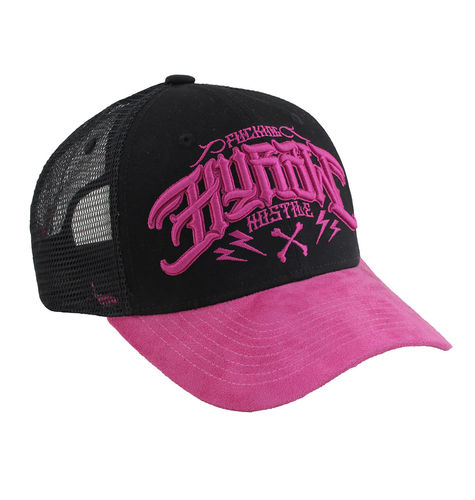 "HYRAW - Snap Back Trucker Cap ""Origin"" black/pink (schwarz/rosa)"