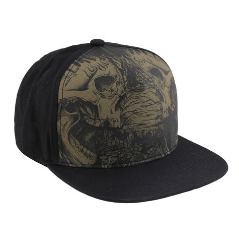 "HYRAW - Snap Back Cap ""Cemetery"" black (schwarz)"
