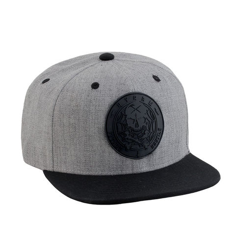 "HYRAW - Snap Back Cap ""Blazon"" gerader Schirm black/grey (schwarz/grau)"