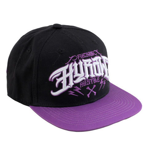 "HYRAW - Snap Back Cap ""Purple Fuck"" black/purple (schwarz/lila)"