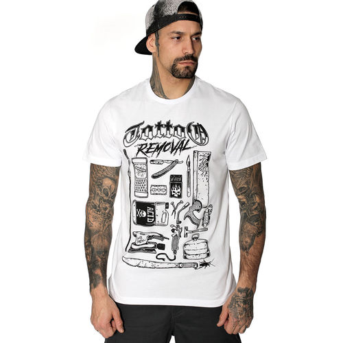 "HYRAW - Herren T-Shirt ""Tattoo Removal"" white (weiß)"