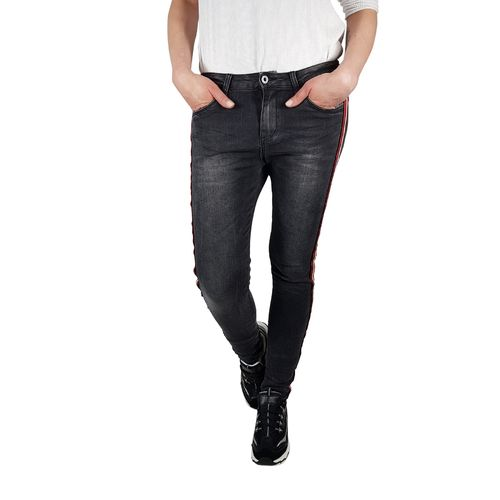 JEWELLY - Damen Skinny Jeans JW5106 black (schwarz)