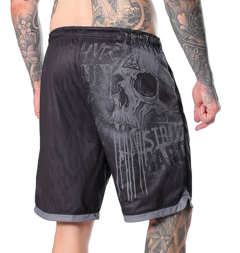 "HYRAW - Herren Shorts/Wendeshorts ""Misery"" black/grey (schwarz/grau)"