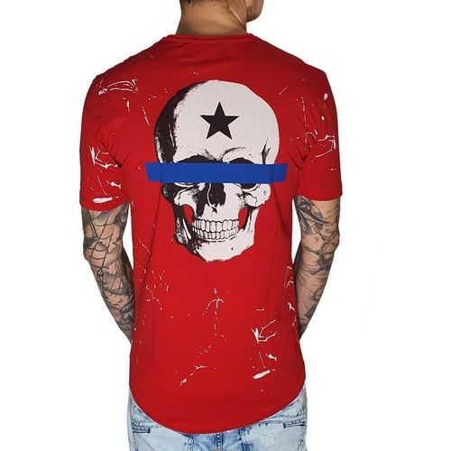 "BLACK ISLAND - Herren T-Shirt 1938 ""Freedom"" red (rot)"