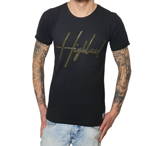 "BY STUDIO - Herren T-Shirt ""Highland"" black (schwarz)"
