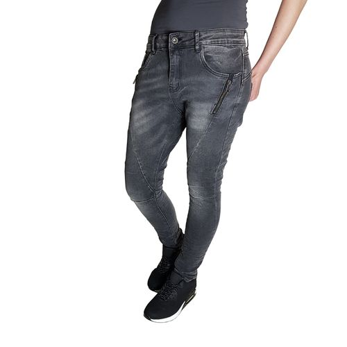 LEXXURY - Damen Slim Fit Baggy Style Jeans L7689 dark grey (dunkelgrau)