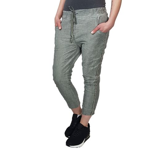 NEW COLLECTION - Damen 7/8 Hose L2-1054 oliv, One Size