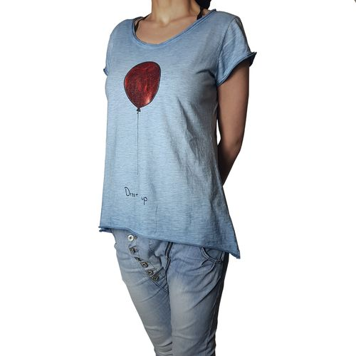 "YOUR & SELF - Damen Shirt ""Dream Up - Balloon"" blue (blau), One Size"