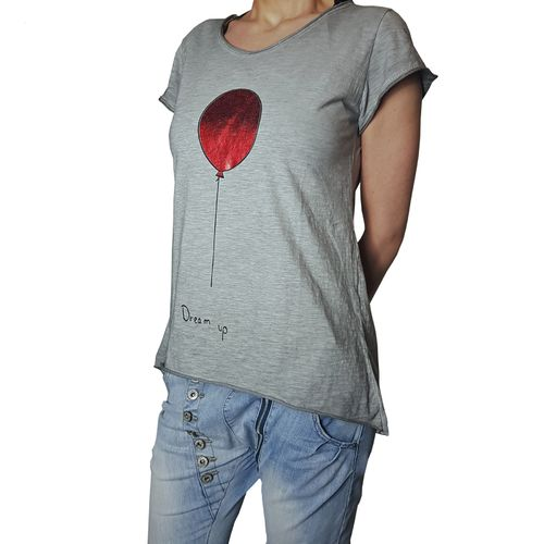 "YOUR & SELF - Damen Shirt ""Dream Up - Balloon"" grey (grau), One Size"