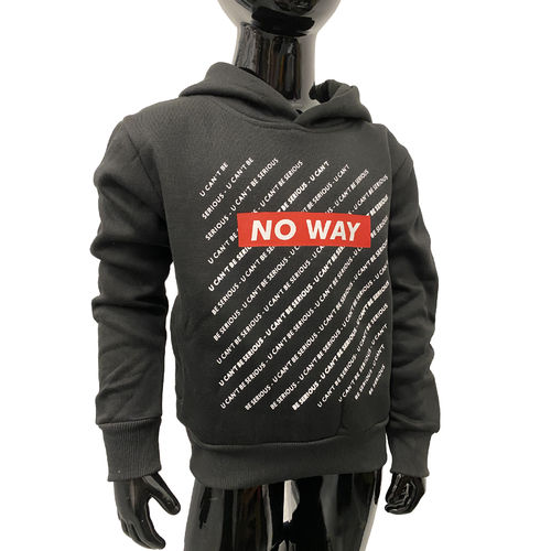 "SQUARED & CUBED - Kinder Hoodie P-93 ""No Way"" black/red (schwarz/rot)"