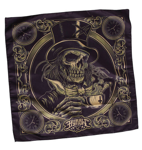 "HYRAW - Bandana/Tuch ""Death Awaits"" black (schwarz)"