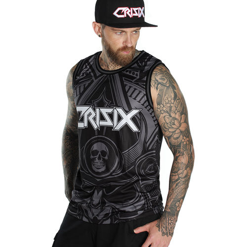 "CRISIX by HYRAW - Herren Basketball Tank Top ""Samurai"" black (schwarz)"