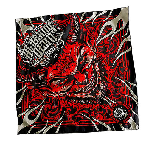 "HYRAW - Bandana/Tuch ""Lucifer"" black/red (schwarz/rot)"