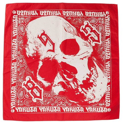 "YAKUZA - Bandana/Tuch BB 11308 ""Skull"" ribbon red (rot)"