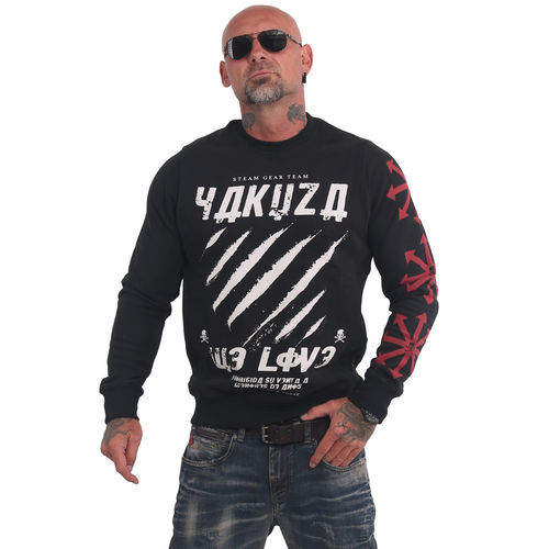 "YAKUZA - Herren Pullover PB 16010 ""We Love"" black (schwarz)"