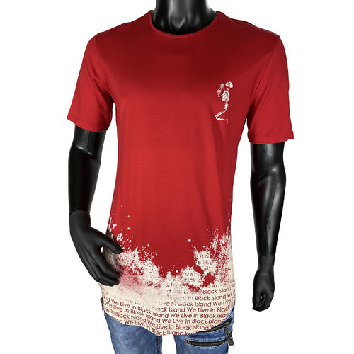 "BLACK ISLAND - Herren T-Shirt 1918 ""We Live In Black"" red (rot)"